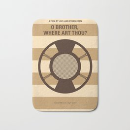 No055 My O Brother Where Art Thou minimal movie poster Bath Mat