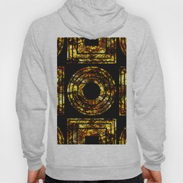 Golden Shapes - Abstract, black and gold, geometric, metallic textured artwork Hoody