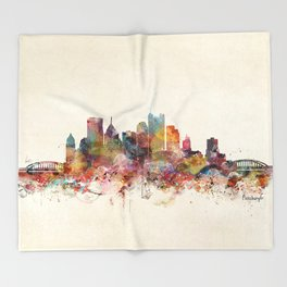 pittsburgh pennsylvania skyline Throw Blanket
