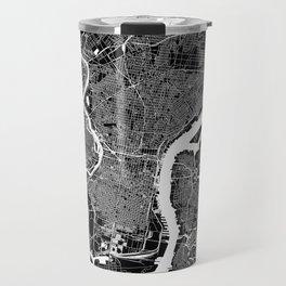 Philadelphia Black And White Map Travel Mug