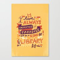 library Canvas Prints featuring Library by Risa Rodil