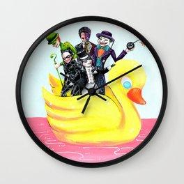 The Villains of a Bat Wall Clock
