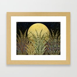 """Golden aloe Zebra midnight sun"" Framed Art Print"