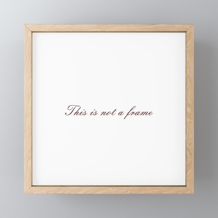 Rene Magritte: This is not a Framed Mini Art Print