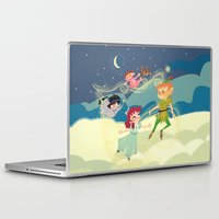 neverland Laptop & iPad Skins featuring Off to Neverland! by Kelly Kates