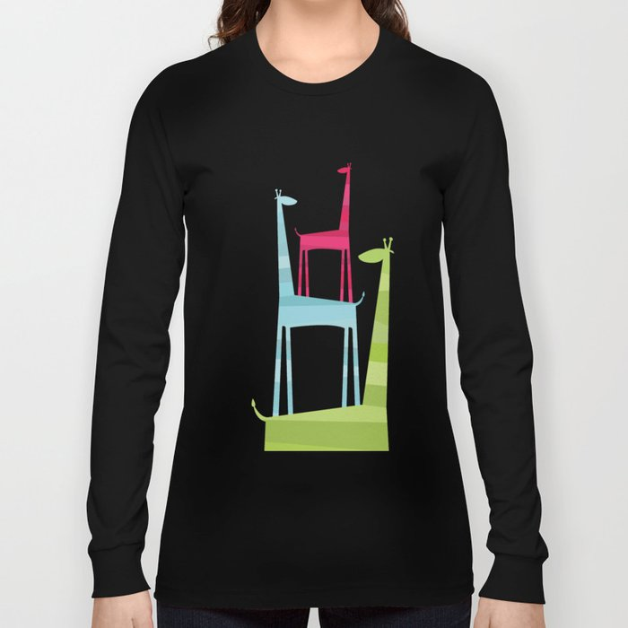 Giraffe Trio Long Sleeve T-shirt