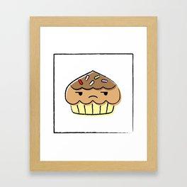 chuck the cupcake Framed Art Print