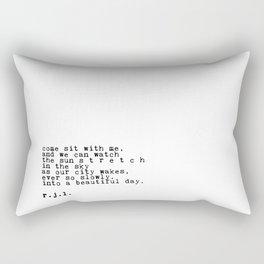 Typewriter Thoughts #1 - s t r e t c h Rectangular Pillow