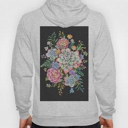 Watercolor Succulent #39 Hoody