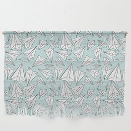 Paper Airplanes Mint Wall Hanging
