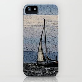 Sailing on the Oslofjord iPhone Case