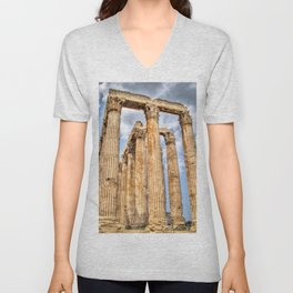 Temple of Zues Unisex V-Neck