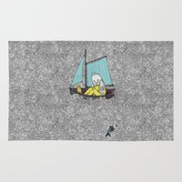 jared leto Area & Throw Rugs featuring Old Man and the Sea by jared stumpenhorst