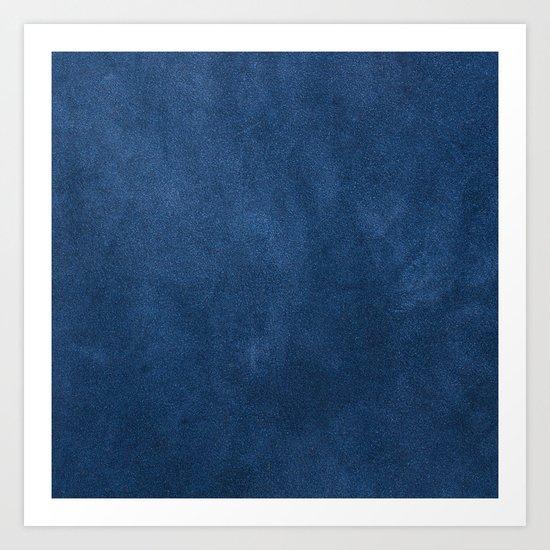 Blue leather texture Art Print