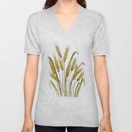 Golden wheat painting Unisex V-Neck