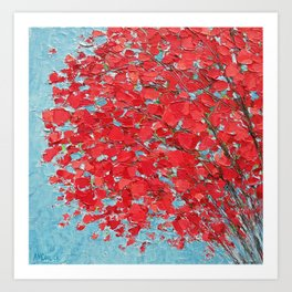 Highlands Red Maple Art Print