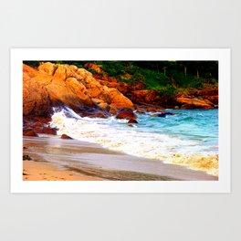 Rocks of Singing Beach Art Print