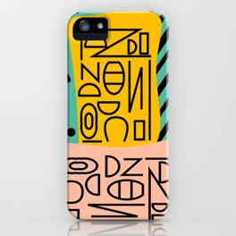 Strange alphabet iPhone Case