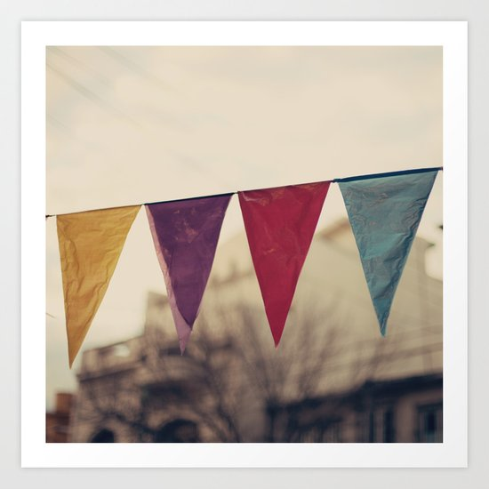 Flags (Vintage and retro photopgraphy) Art Print
