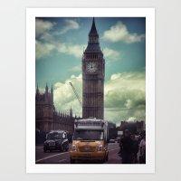 ben giles Art Prints featuring Ben by Christine Workman