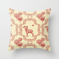 Year of the Ram Throw Pillow
