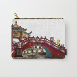 Beautiful Red Temple to Water Goddess in Hong Kong Carry-All Pouch