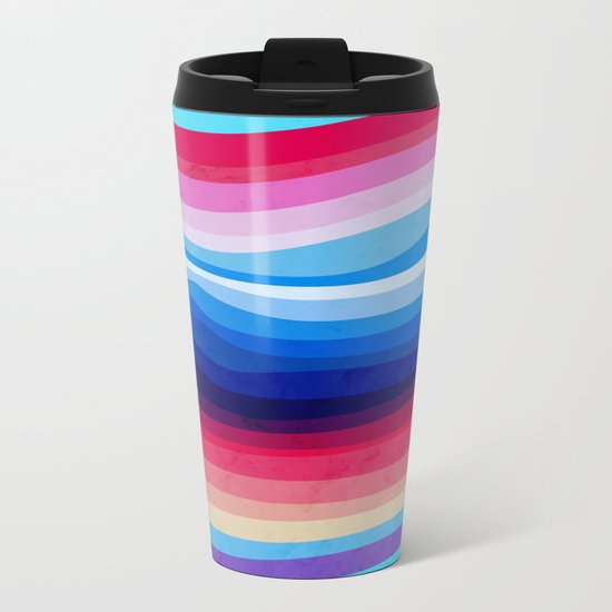 Melted Rainbow Metal Travel Mug