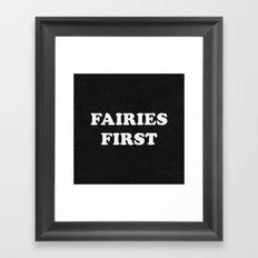 Fairies First Framed Art Print