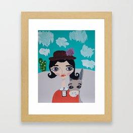 ~ Wild Burro Donkey ~10 Year Old Amelia's Arizona Critter Girl Framed Art Print
