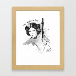 May The Force Be With You-Princess Leia Framed Art Print