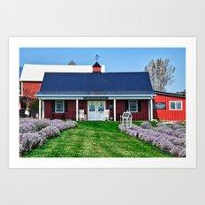 The Lavender Shop Art Print