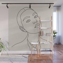 Line Drawing Portrait III Wall Mural