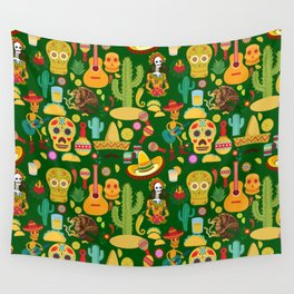 Fiesta Time! Mexican Icons Wall Tapestry