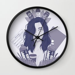 Student in New Zealand Wall Clock