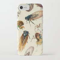 bug iPhone & iPod Cases featuring summer cicadas by Teagan White