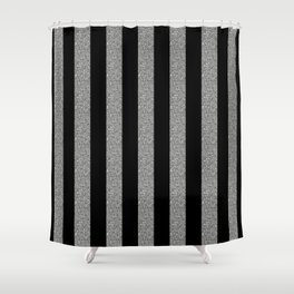 GLITTER STRIPES Shower Curtain