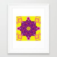 psychadelic Framed Art Prints featuring Psychadelic Flora by Cynthia Squire