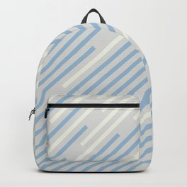 Pastel Blue Off White Grey Off-set Stripe Pattern 2021 Color of the Year Earth's Harmony and Accents Backpack