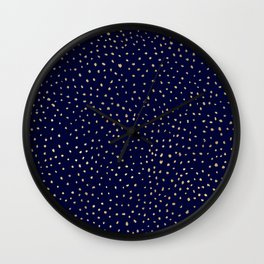 Dotted Gold & Midnight Wall Clock
