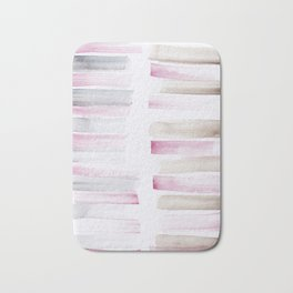 25  | 181101 Watercolour Palette Abstract Art | Lines | Stripes | Bath Mat