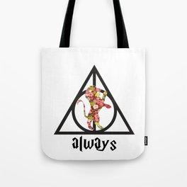 Always - Red Floral Tote Bag