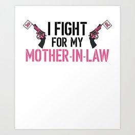 Breast Cancer Awareness Art For Warrior Women Light Art Print