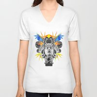 medusa V-neck T-shirts featuring MEDUSA by SIMONE S.C.H.