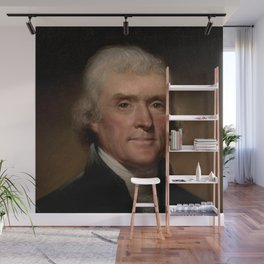 portrait of Thomas Jefferson by Rembrandt Peale Wall Mural