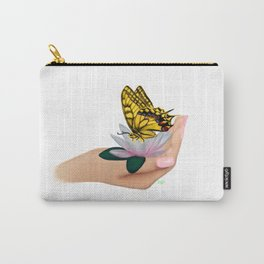 Butterfly on water lily Carry-All Pouch