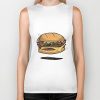 burger Biker Tanks featuring BURGER by Anthony Morell