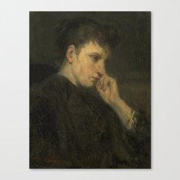 'Melancholie', Jozef Israëls, 1880 - 1899 Canvas Print