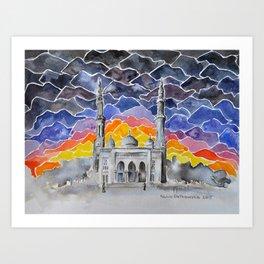 Jumeirah Mosque, Dubai, UAE Art Print