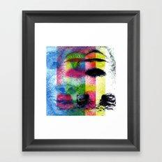 Matter, better suited for the face, not the heart. [CMYK] Framed Art Print