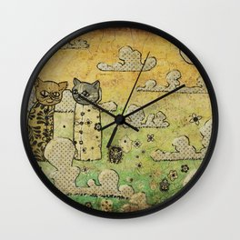 Two Cats Wall Clock
